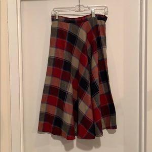Skirts - Beautiful vintage wool a line plaid skirt